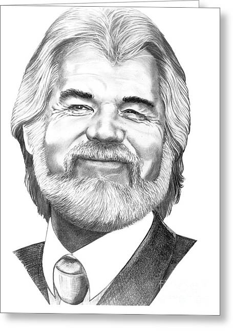 Roger Greeting Cards - Kenny Rogers Greeting Card by Murphy Elliott