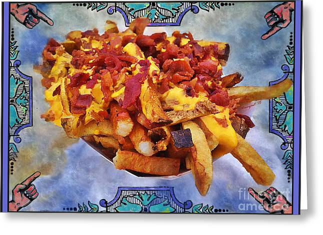 Kennywood Potato Patch Fries Retro Art Poster Greeting Card by Shelly Weingart