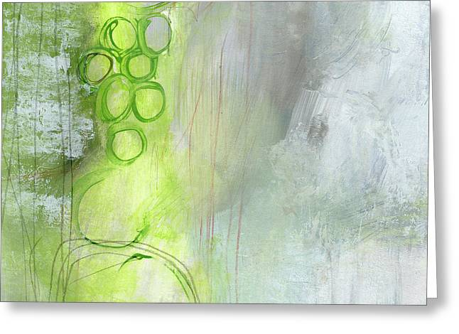 Kensho- Abstract Art By Linda Woods Greeting Card by Linda Woods