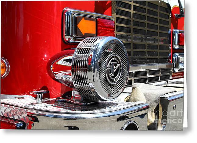 Kensington Fire District Fire Engine Siren . 7D15879 Greeting Card by Wingsdomain Art and Photography