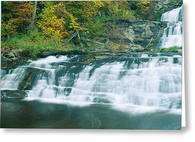 Kent Falls State Park Greeting Cards - Kent Falls State Park, Connecticut Greeting Card by Panoramic Images