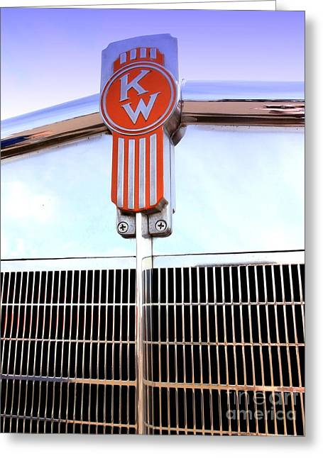 Classic Truck Greeting Cards - Kenworth Insignia and Grill Greeting Card by Karyn Robinson