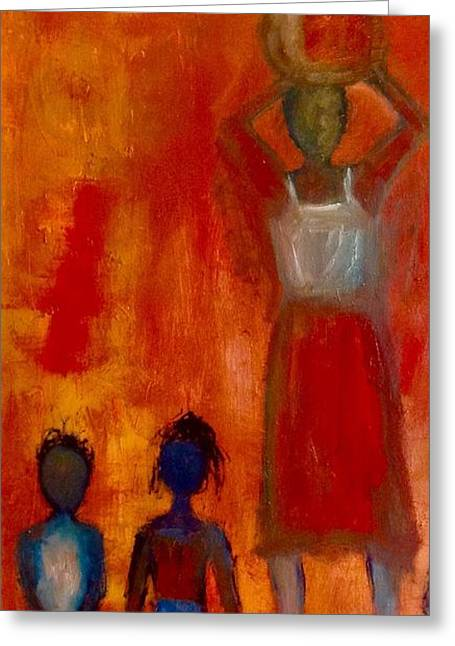 African-americans Greeting Cards - Kenya Woman Greeting Card by Yolanda Terrell