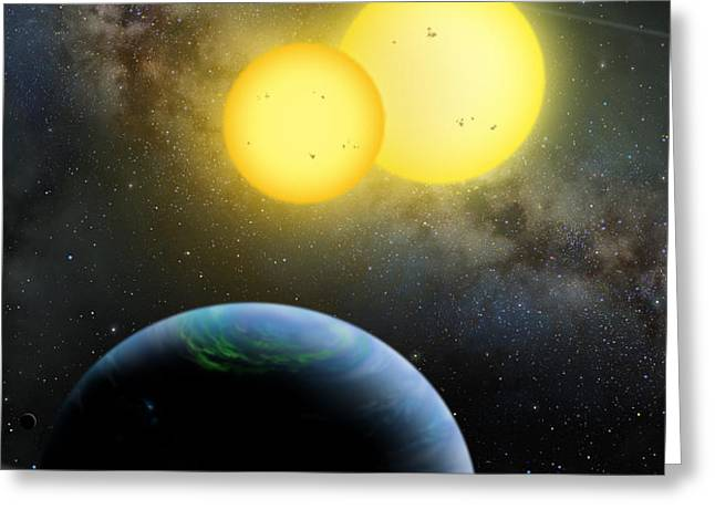 Kepler-35 Greeting Card by Lynette Cook
