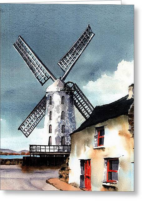 Kerry Windmill At Blennerville Greeting Card by Val Byrne