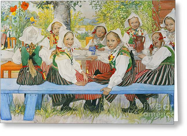 Kersti's Birthday Greeting Card by Carl Larsson