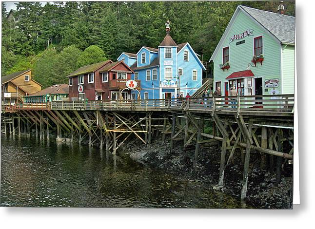 Ketchikan Greeting Cards - Ketchikan Creek 8777 Greeting Card by Michael Peychich