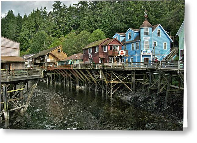 Ketchikan Greeting Cards - Ketchikan Creek 8778 Greeting Card by Michael Peychich