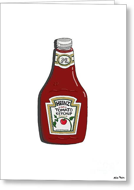 Mike Pedro Art Greeting Cards - Ketchup Greeting Card by George Pedro
