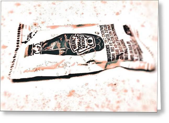 Ketchup Model Greeting Card by Eisen Laucik