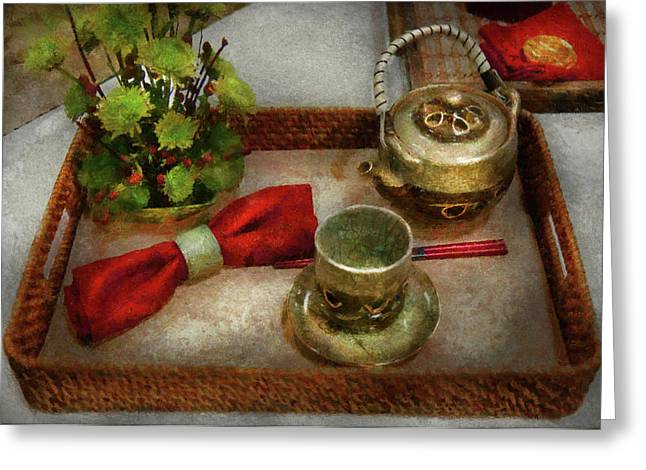 Kettle - Formal tea ceremony Greeting Card by Mike Savad