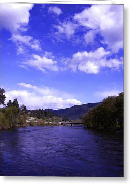 Boundary Waters Digital Art Greeting Cards - Kettle River High Water Grand Forks BC Greeting Card by Barbara St Jean