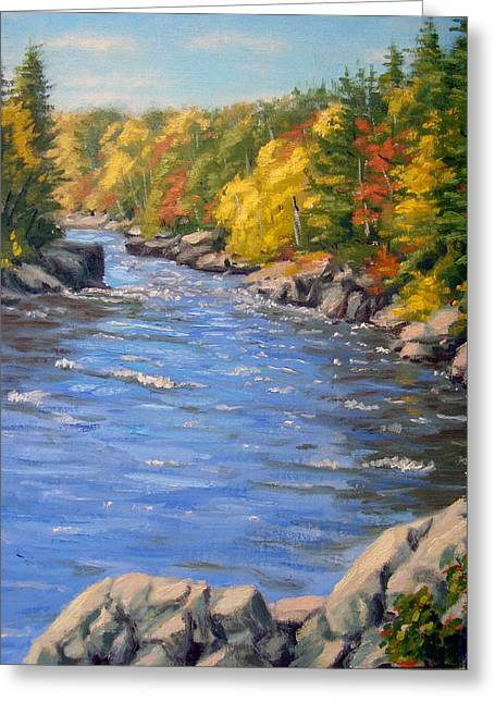 Breezy Greeting Cards - Kettle River Greeting Card by Rick Hansen