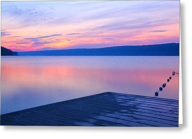 Keuka At Dawn  Greeting Card by Steven Ainsworth