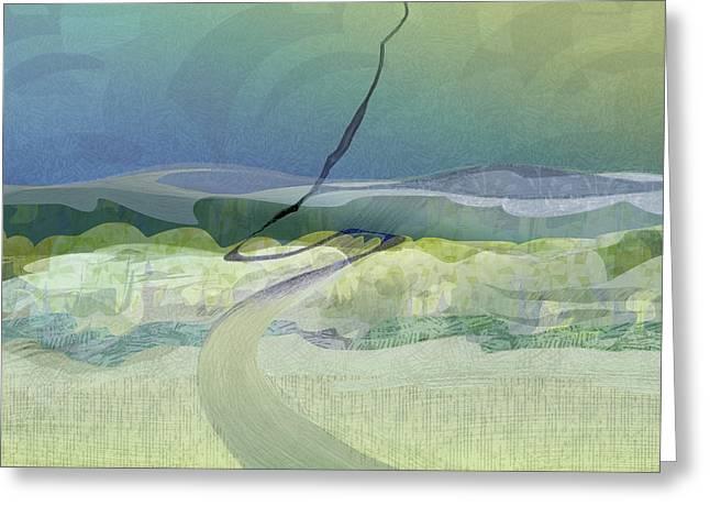 Keuka Incline  Greeting Card by CR Leyland