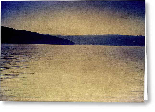 Keuka Greeting Cards - Keuka Rainy Dawn Greeting Card by Alison Squiers