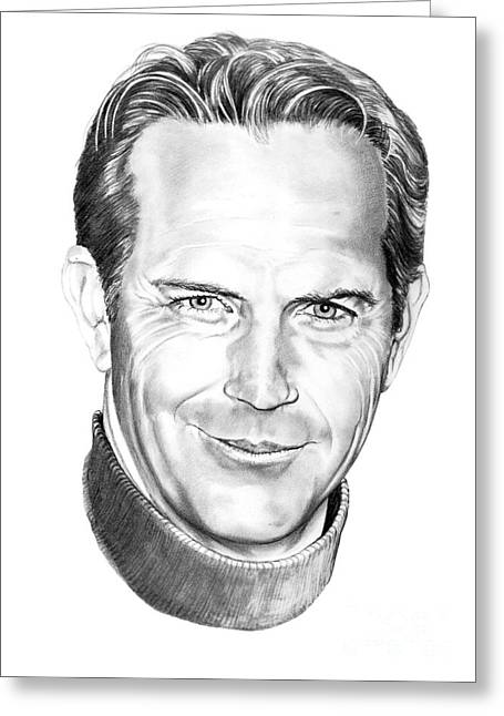 Kevin Greeting Cards - Kevin Costner Greeting Card by Murphy Elliott
