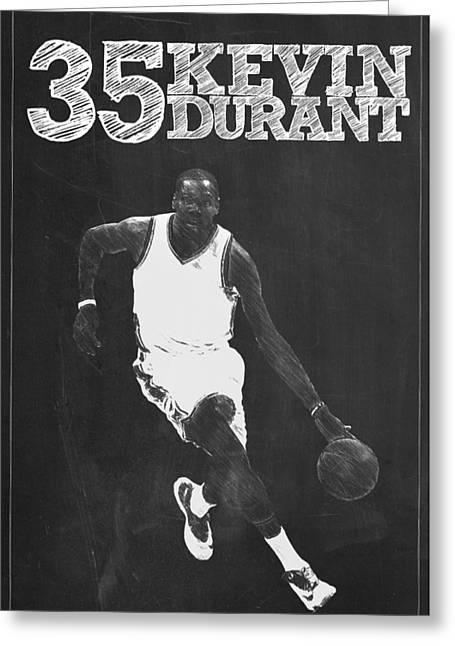 Kevin Durant Greeting Card by Semih Yurdabak