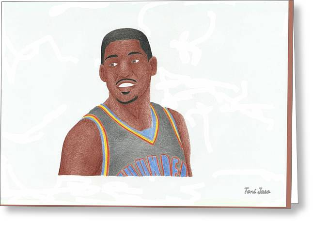 Slam Drawings Greeting Cards - Kevin Durant Greeting Card by Toni Jaso