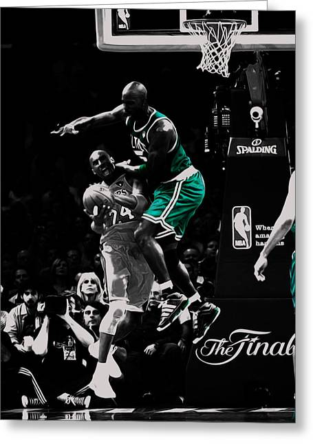 Kevin Garnett Not In Here Greeting Card by Brian Reaves
