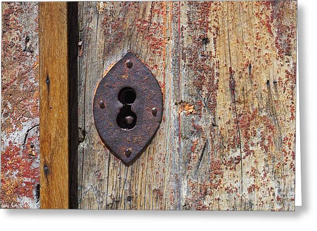 Key Hole Greeting Card by Carlos Caetano