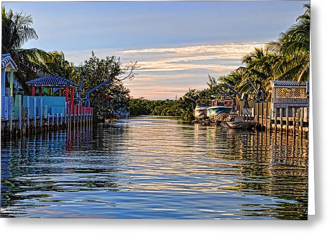 Key Largo Canal Greeting Card by Chris Thaxter