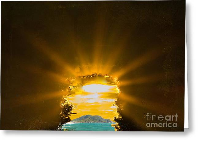 Light Tapestries - Textiles Greeting Cards - Key Light Greeting Card by James Hennis