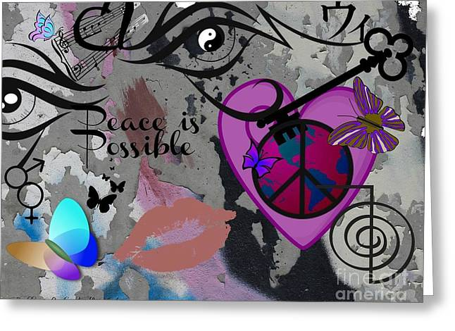 Yang Greeting Cards - Key to Energy of Peace  Greeting Card by Bobbee Rickard