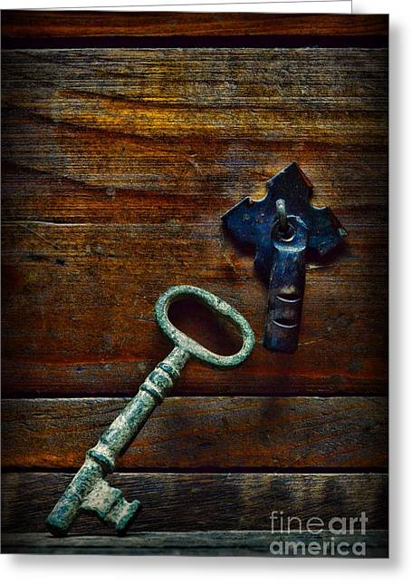 Key To My Heart Greeting Card by Paul Ward