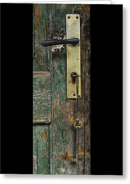 Key To The Barn Greeting Card by Don Wolf