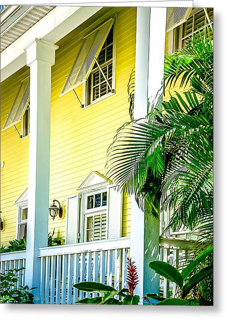 Key West Homes 15 Greeting Card by Julie Palencia