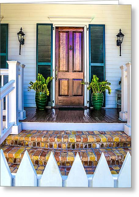 Key West Homes 16 Greeting Card by Julie Palencia