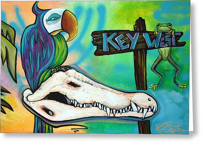Key West Greeting Card by Laura Barbosa