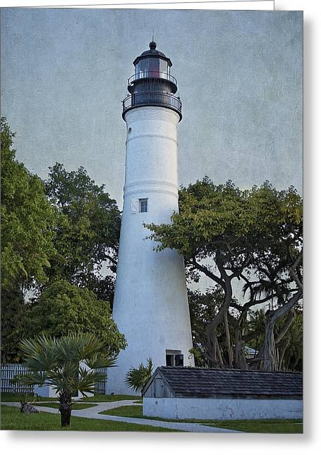 Historic Home Greeting Cards - Key West Lighthouse Greeting Card by Kim Hojnacki