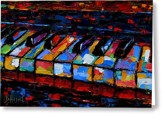 Abstract Music Greeting Cards - Keyboard Greeting Card by Debra Hurd