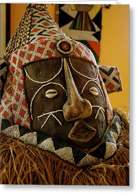 African Sculptures Greeting Cards - Khalid the Immortal One Greeting Card by Shaakira Edison