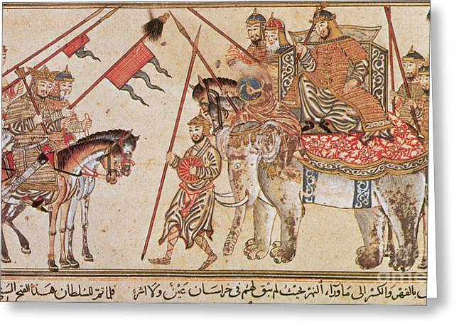 Psychological Greeting Cards - Khan Leader Surrenders To Sultan Mahmud Greeting Card by Photo Researchers