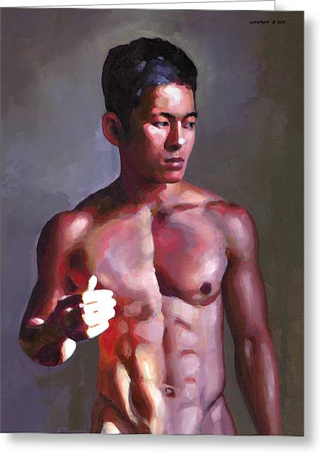 Vietnamese Greeting Cards - Khanh in Late-Afternoon Light Greeting Card by Douglas Simonson