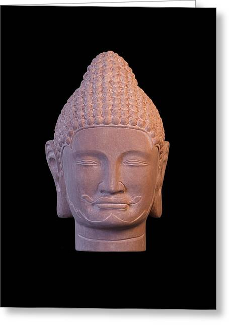 Stainless Steel Greeting Cards - Khmer 2 C Greeting Card by Terrell Kaucher