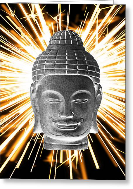 Print Sculptures Greeting Cards - Khmer 3 Enlightenment Greeting Card by Terrell Kaucher