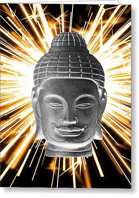 Choosing Sculptures Greeting Cards - Khmer 3 Enlightenment Greeting Card by Terrell Kaucher