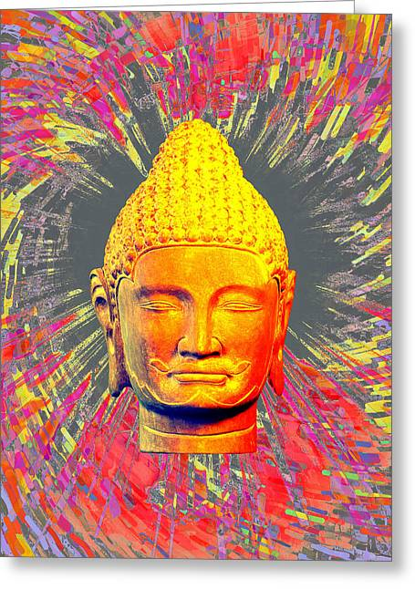 Choosing Sculptures Greeting Cards - Khmer colorful 2 CF Greeting Card by Terrell Kaucher
