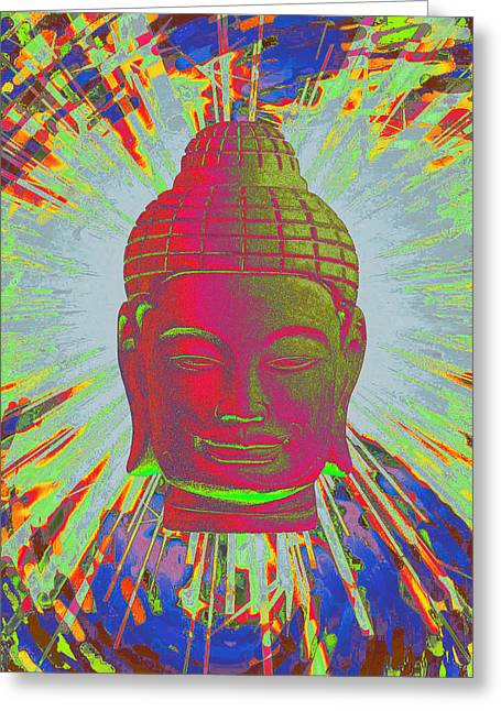 Religious Sculptures Greeting Cards - Khmer colorful 3 Greeting Card by Terrell Kaucher