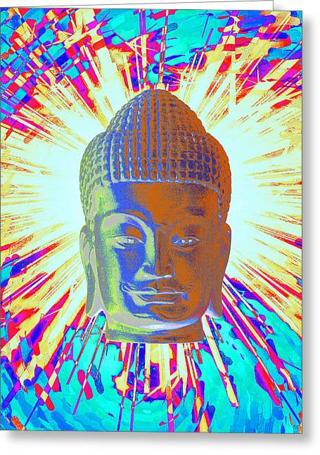 Religious Sculptures Greeting Cards - Khmer colorful 4 Greeting Card by Terrell Kaucher