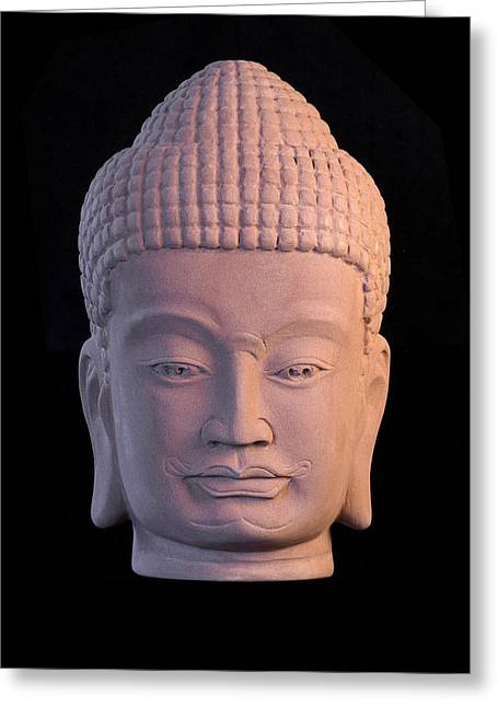 Buddhism Sculptures Greeting Cards - Khmer C Greeting Card by Terrell Kaucher