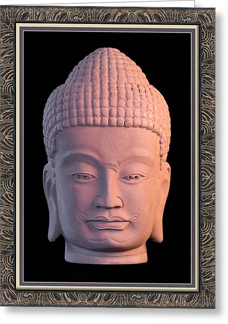 Serene Sculptures Greeting Cards - Khmer Greeting Card 3 Greeting Card by Terrell Kaucher