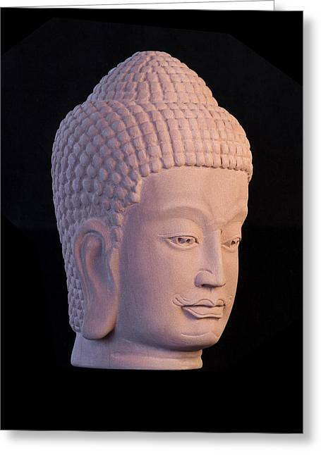 Buddhism Sculptures Greeting Cards - Khmer R Greeting Card by Terrell Kaucher