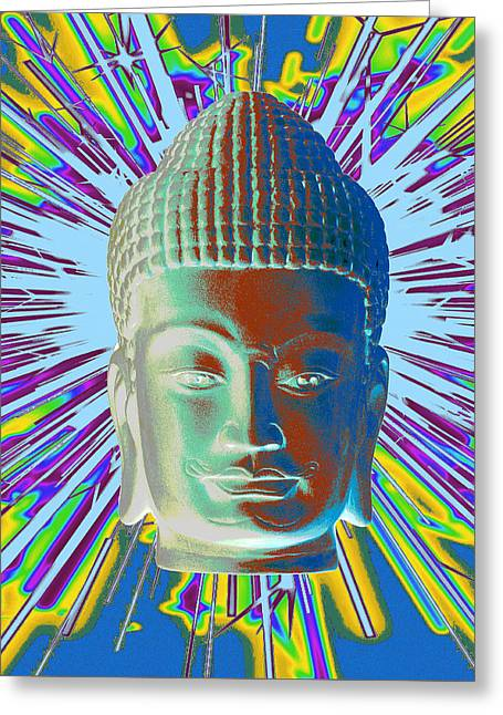 Serene Sculptures Greeting Cards - Khmer  SP Greeting Card by Terrell Kaucher