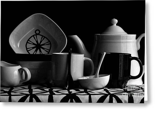 Black Top Greeting Cards - Kichen Utensils Greeting Card by Luv Photography