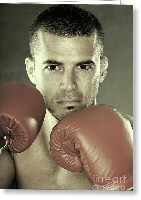 Kickboxers Greeting Cards - Kickboxer Greeting Card by Oleksiy Maksymenko